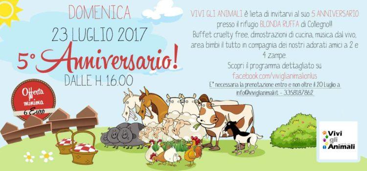 Festa 5° anniversario Vivi gli animali